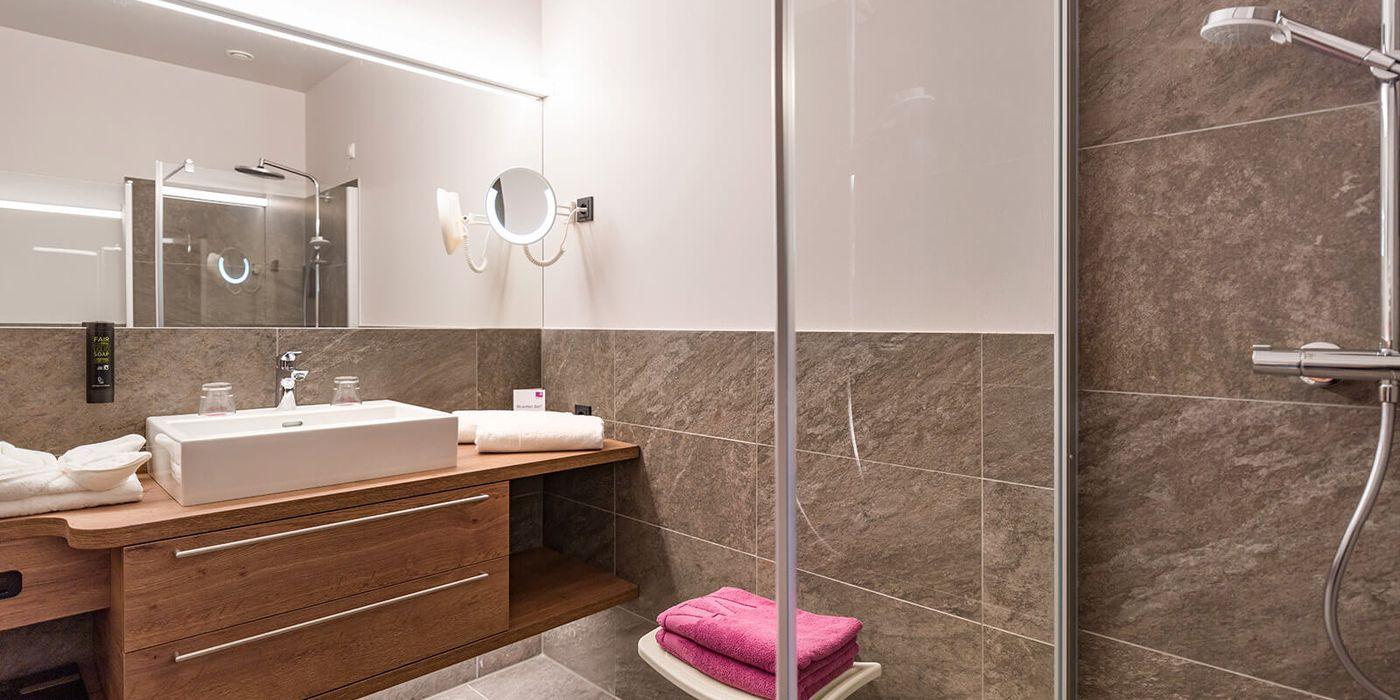 Premium Doppelzimmer (Badezimmer) im Vivea Gesundheitshotel Bad Eisenkappel, Kärnten