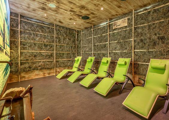 Im Alpenluftionisationsraum genießen Sie das ganze Jahr über den Duft von frischem Heu.