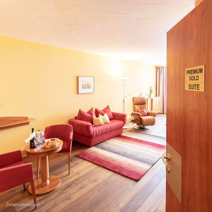 Erleben Sie unsere Premium GOLD Suiten mit vielen Extras.
