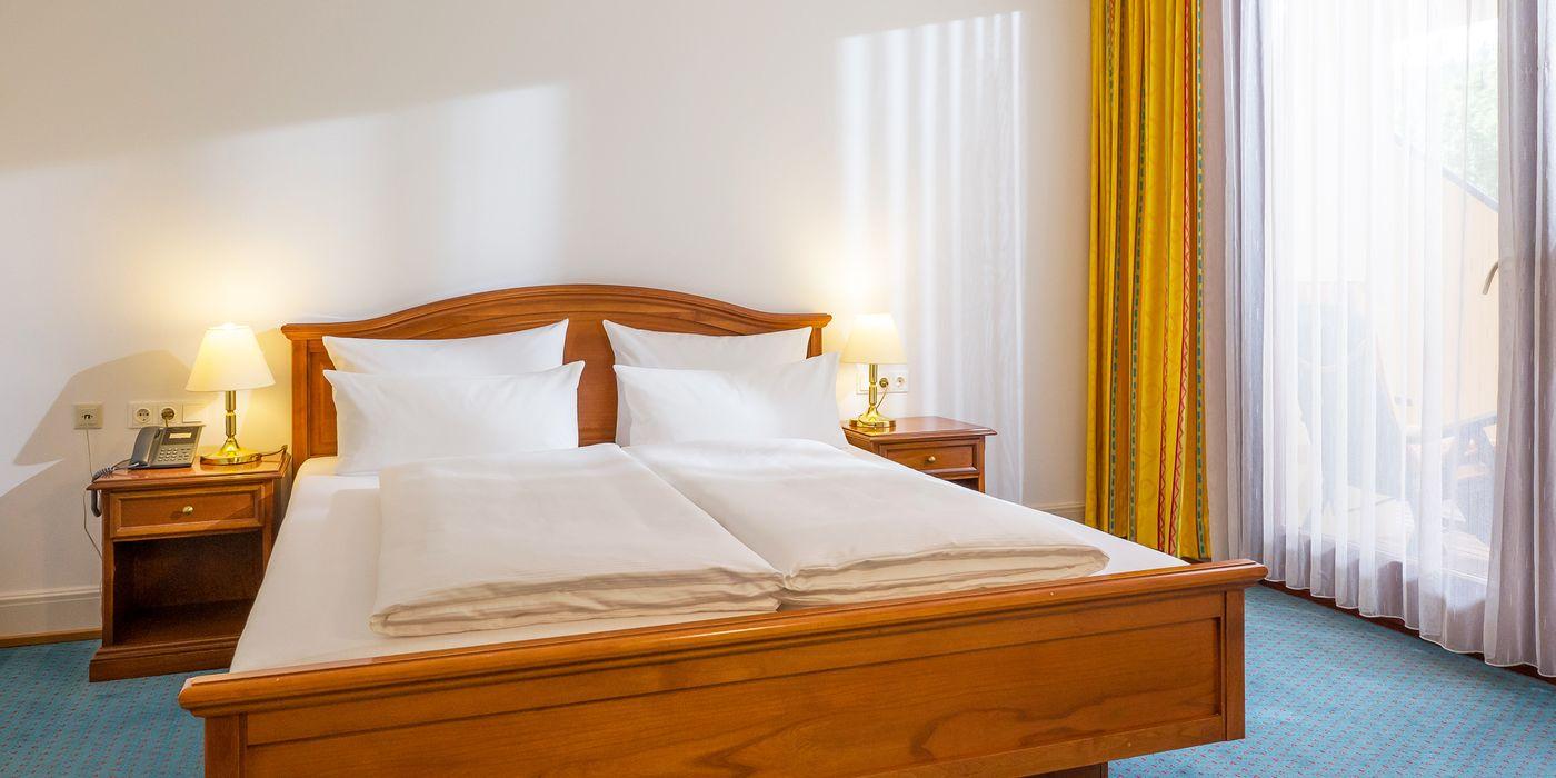Zimmerbeispiel für ein Wohlfühl Doppelzimmer im Vivea Gesundheitshotel Bad Eisenkappel