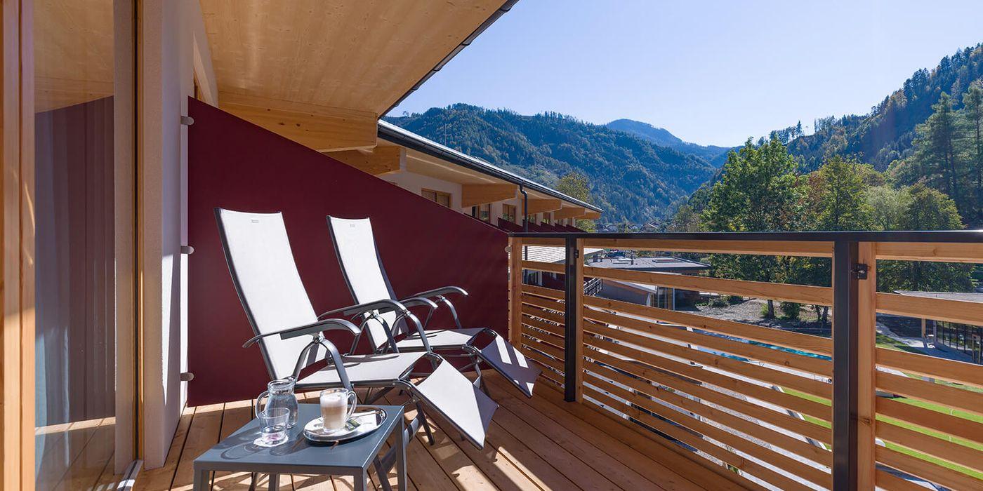 Balkon in der Wohlfühl Suite im Vivea Gesundheitshotel Bad Eisenkappel, Kärnten