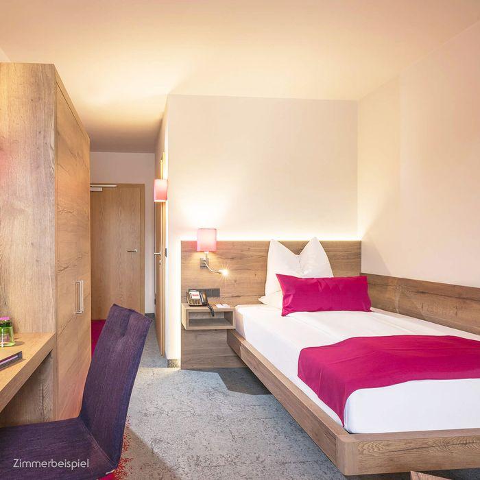 In unserem Wohlfühl Einzelzimmer finden Sie das stilvolle Ambiente unserer Gesundheitshotels und eine ganze Reihe an klassischen Annehmlichkeiten.