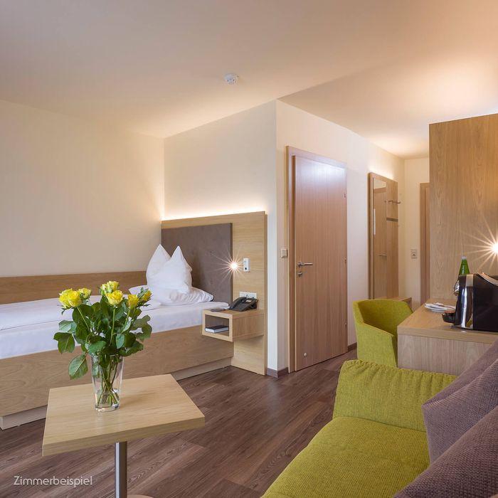 In unseren Premium Einzelzimmern erwartet Sie eine Fülle an Vorteilen