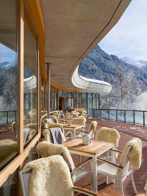 Terrasse im Winter - Vivea Gesundheitshotel Umhausen im Ötztal